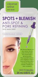 Skin Republic Gesichts-Tuchmaske Spots + Blemish 25ml